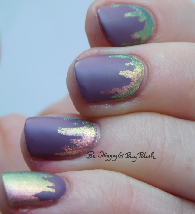 paint drip manicure close up with Sinful Colors and POP Polish | Be Happy And Buy Polish