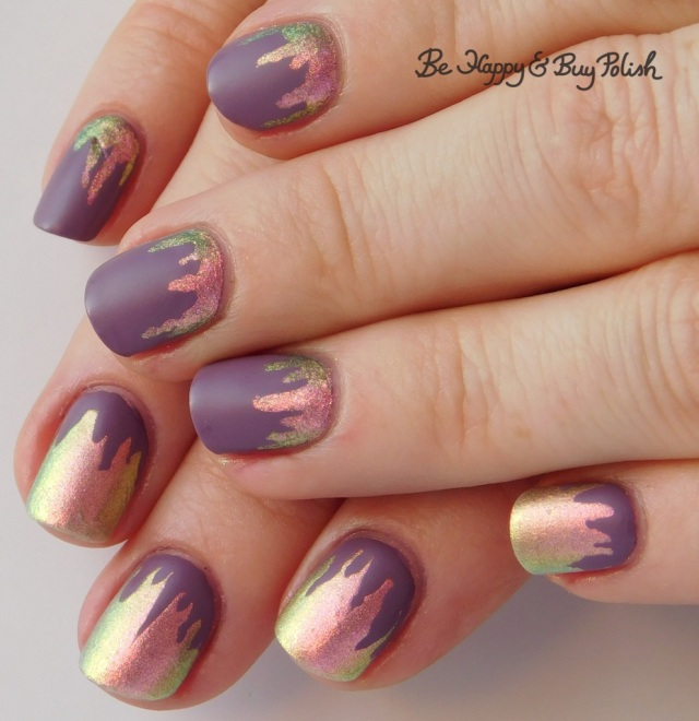paint drip manicure with Sinful Colors and POP Polish | Be Happy And Buy Polish