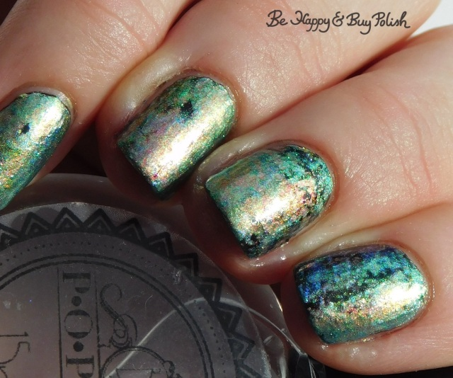POP Polish Pastel Oil Slick 360 oil slick nail art manicure close up | Be Happy And Buy Polish