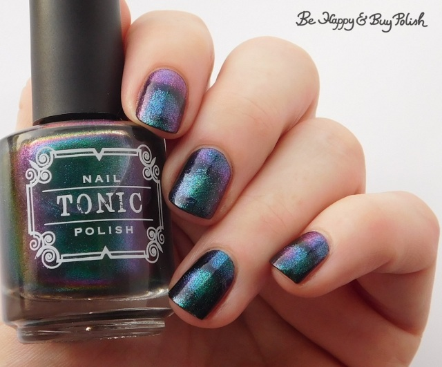 Tonic Polish Mirabilis over Blackheart Beauty Navy Vampire Matte | Be Happy And Buy Polish