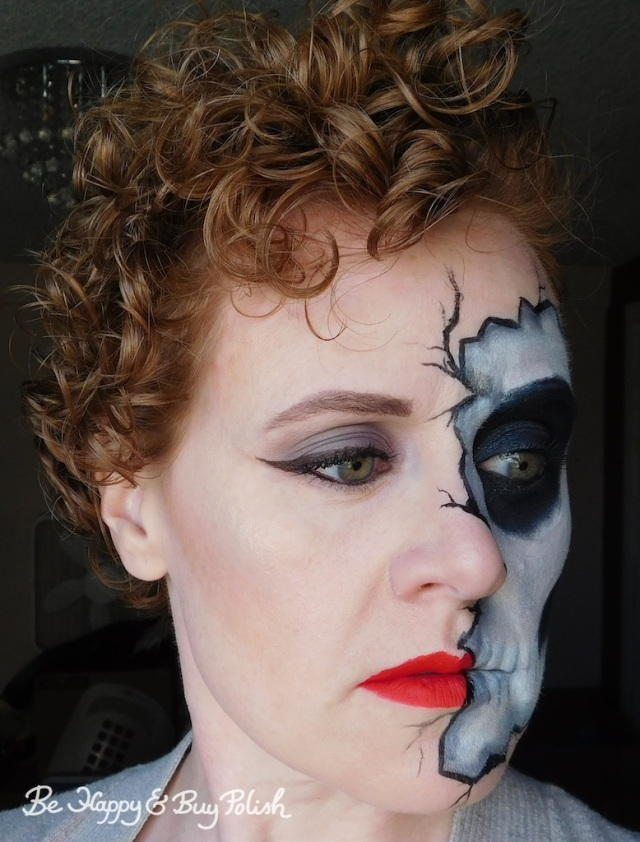 cracked half skeleton makeup | Be Happy And Buy Polish