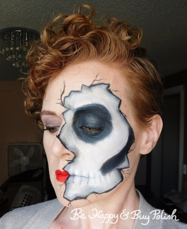 cracked skeleton makeup side view | Be Happy And Buy Polish