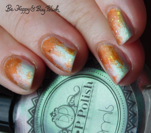 P.O.P Polish FrankenSlick and Jack O Lantern dry brush gradient multichrome | Be Happy And Buy Polish