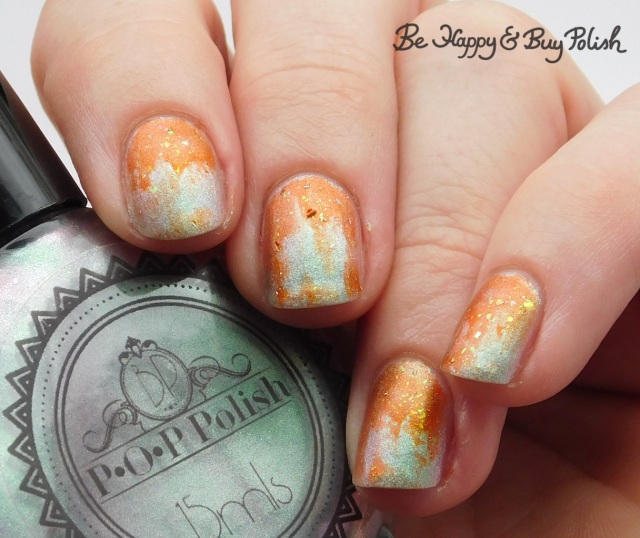 P.O.P Polish FrankenSlick and Jack O Lantern dry brush gradient | Be Happy And Buy Polish