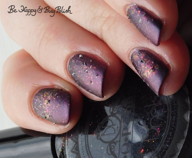 P.O.P Polish Scared Slick and Eye of Newt gradient close up | Be Happy And Buy Polish