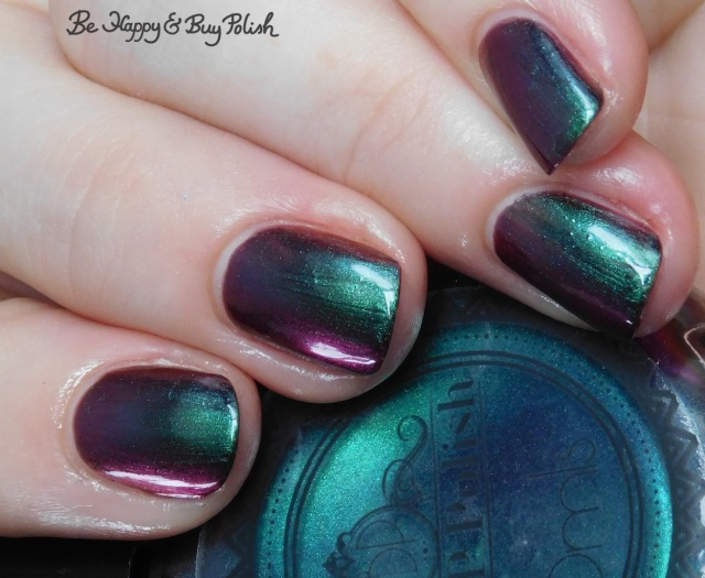 P.O.P Polish Scared Slick green multichrome shift | Be Happy And Buy Polish