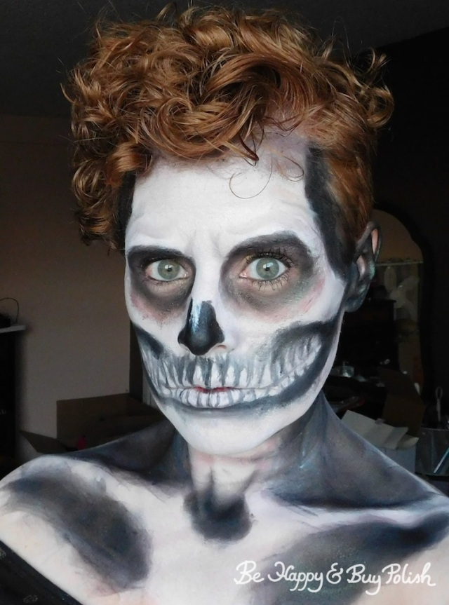 skeleton makeup with Wet N Wild Fantasy Makers | Be Happy And Buy Polish