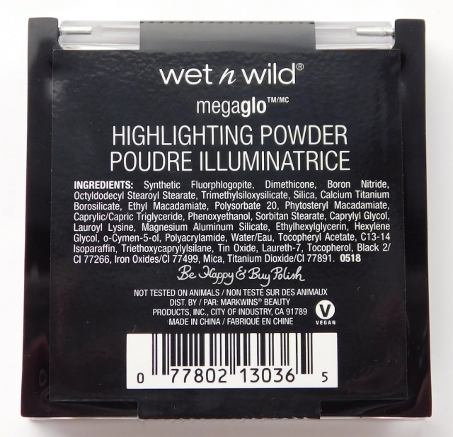 Wet N Wild Megaglo Highlighting Powder Not Your Basic Witch ingredients | Be Happy And Buy Polish