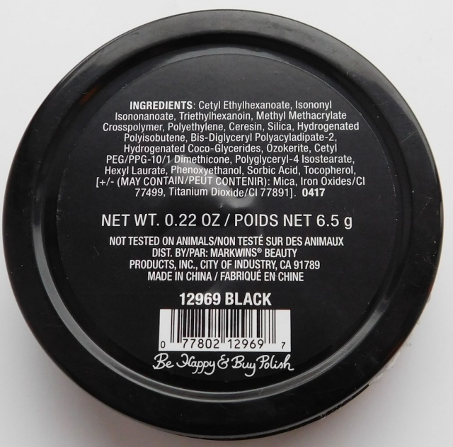 Wet N Wild Paint Pot Black ingredients | Be Happy And Buy Polish