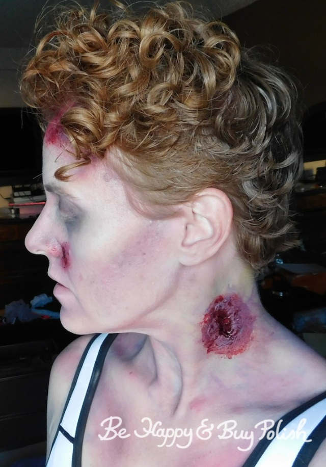 zombie makeup with neck wound | Be Happy And Buy Polish