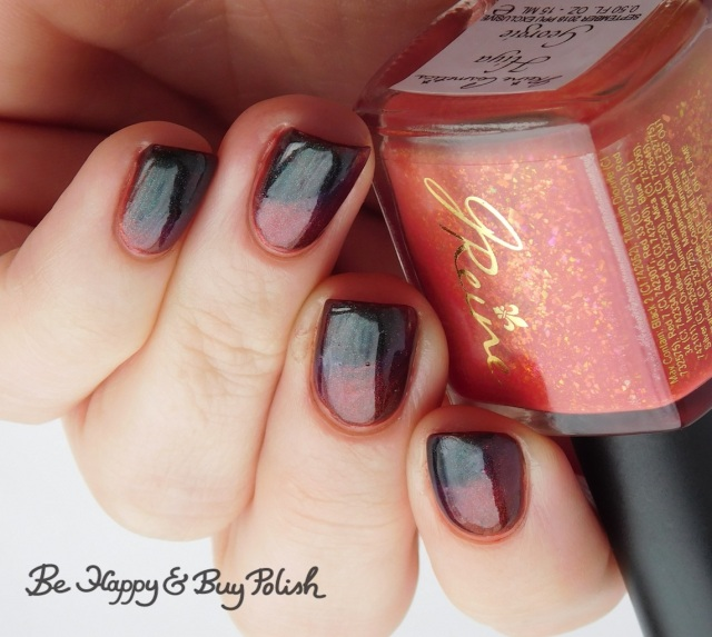 Bee's Knees Lacquer It, JReine Cosmetics Hiya Georgie thermal nail polish cold state | Be Happy And Buy Polish