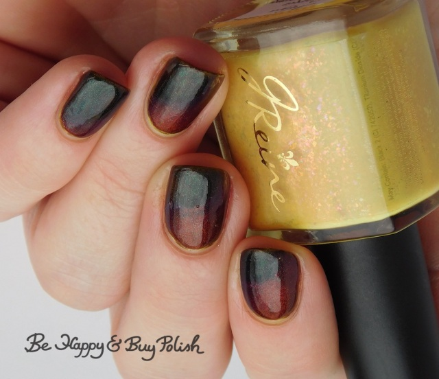 Bee's Knees Lacquer It, JReine Cosmetics Hiya Georgie thermal nail polish warm state | Be Happy And Buy Polish