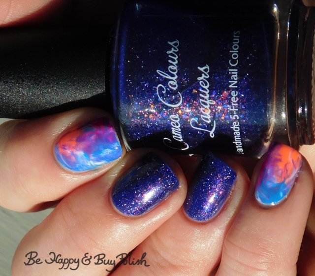 Cameo Colours Lacquers Shuttity Up Up Up, L.A. Colors Energy, Nuclear, Electric, Luminous rubbing alcohol manicure | Be Happy And Buy Polish