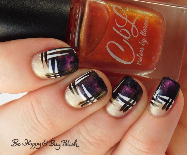 CBL Fake Tan Man, L.A. Colors Mermaid Magic Opal, Circuits, Energy Source, Baroness X Sharks with Frickin' Laser Beams hash manicure | Be Happy And Buy Polish