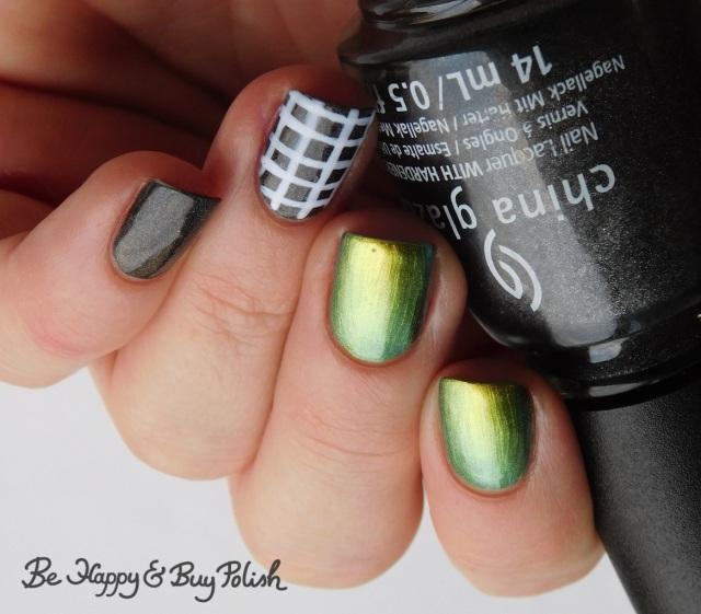 China Glaze Maliboo-boo, KBShimmer Fool Moon, LA Colors Glows Energy check manicure   Be Happy And Buy Polish