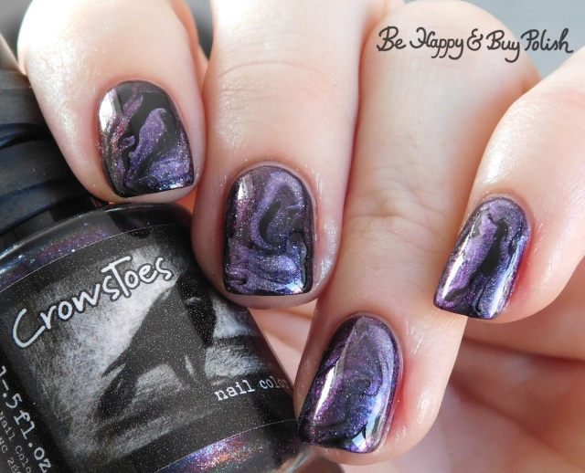 CrowsToes Nail Color Polish Pickup Pack The ONLY Elves on My Shelves, Blackheart Beauty Divine Elements Spirit, L.A. Colors Circuits fluid marble nail art | Be Happy And Buy Polish