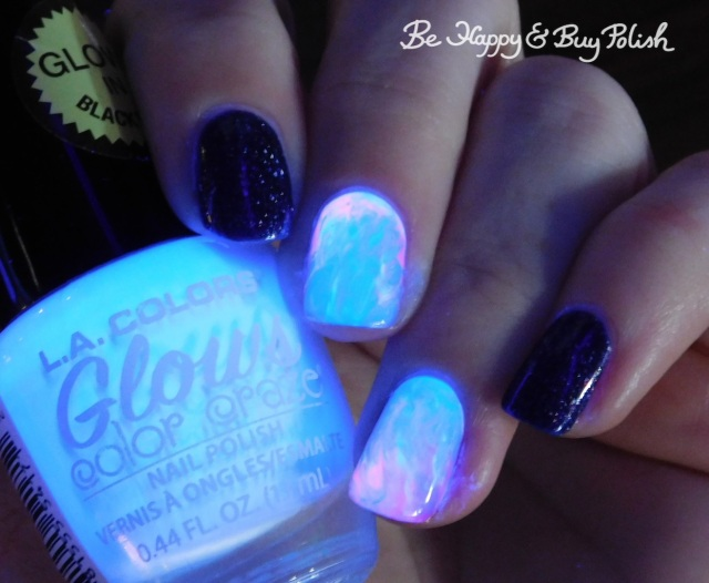 L.A. Colors Energy, Nuclear, Electric, Luminous, Cameo Colours Lacquers Shuttity Up Up Up rubbing alcohol manicure | Be Happy And Buy Polish