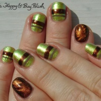 Magnetic Multichrome Stripe Manicure with L.A. Colors, P.O.P Polish, Bee's Knees Lacquer