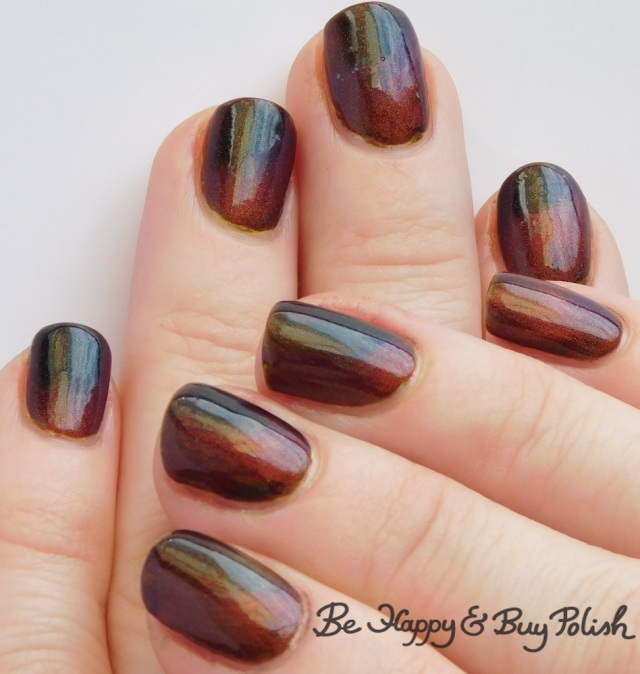 magnetic thermal manicure with Bee's Knees Lacquer, JReine Cosmetics | Be Happy And Buy Polish
