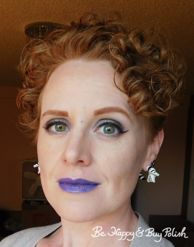 makeup with Wet N Wild coloricon Lip Gloss Cancer over Bewitched and Purple Panic | Be Happy And Buy Polish