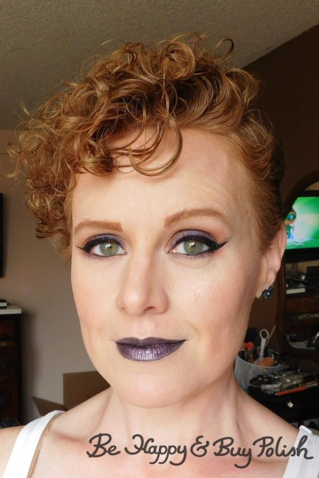 makeup with Wet N Wild coloricon lip gloss cancer over Liquid Catsuit Shady Witch | Be Happy And Buy Polish