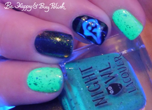 Night Owl Lacquer I've Spent So Long in the Darkness, Delush Polish Want To Play A Game, L.A. Colors Circuits, P.O.P Polish Radioactive Glass | Be Happy And Buy Polish