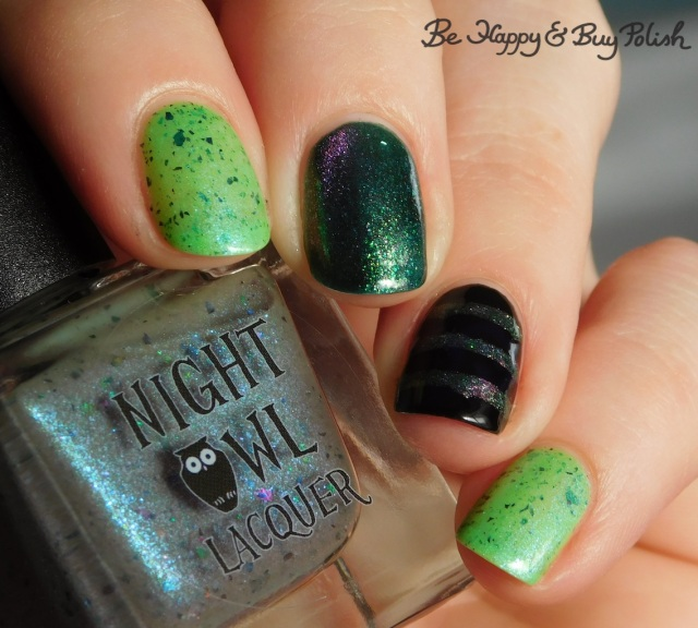 Night Owl Lacquer I've Spent So Long in the Darkness, Delush Polish Want To Play A Game, L.A. Colors Circuits | Be Happy And Buy Polish