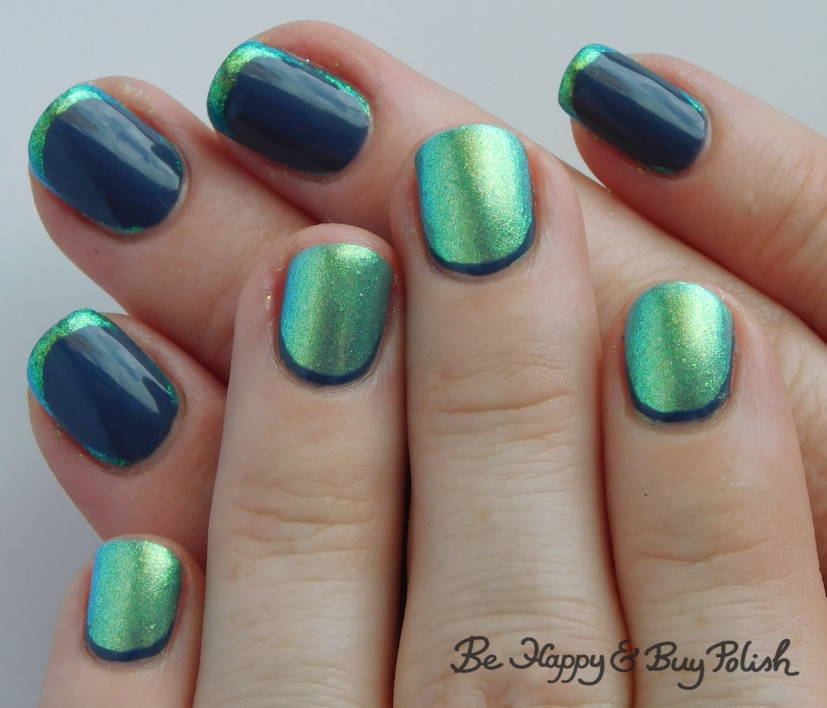 La Looks Nail Polish: Opposing Colors French Manicure With P.O.P Polish And L.A