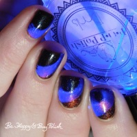 Thermal, Magnetic, AND Blacklight manicure with Bee's Knees Lacquer, JReine Cosmetics, P.O.P Polish