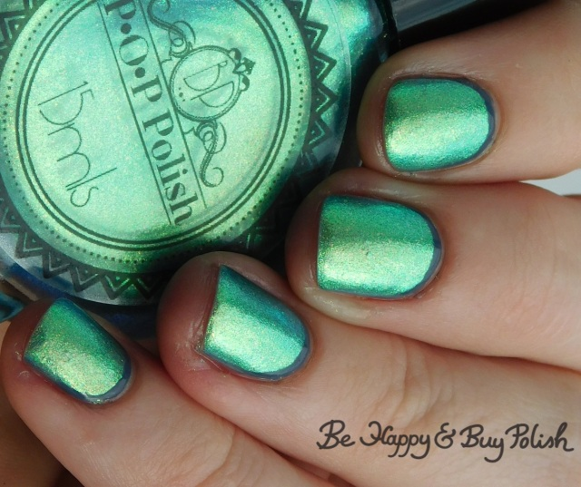 P.O.P Polish SurfSlick and L.A. Colors Flannel Grey opposing french manicure close up | Be Happy And Buy Polish