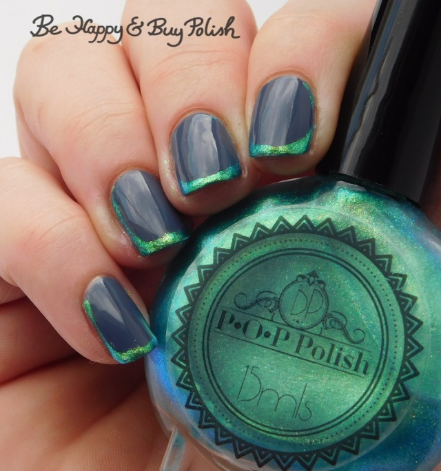 P.O.P Polish SurfSlick and L.A. Colors Flannel Grey opposing french manicure | Be Happy And Buy Polish