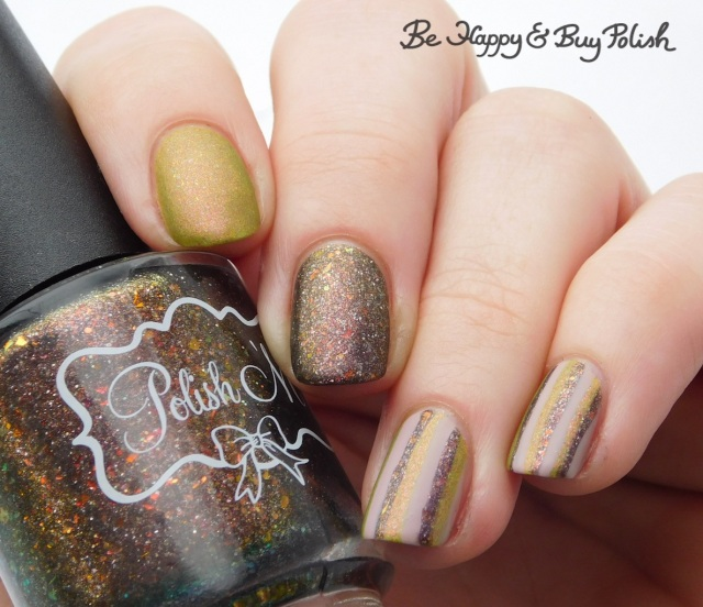 Polish 'M No One Home, Lollipop Posse Lacquer When There's No More Room in Hell, L.A. Colors Vapor striped skittlette manicure | Be Happy And Buy Polish