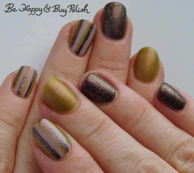 striped skittlette manicure with Polish 'M, Lollipop Posse Lacquer, L.A. Colors | Be Happy And Buy Polish