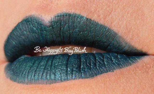 Wet N Wild Liquid Catsuit Emerald Envy lip swatch | Be Happy And Buy Polish