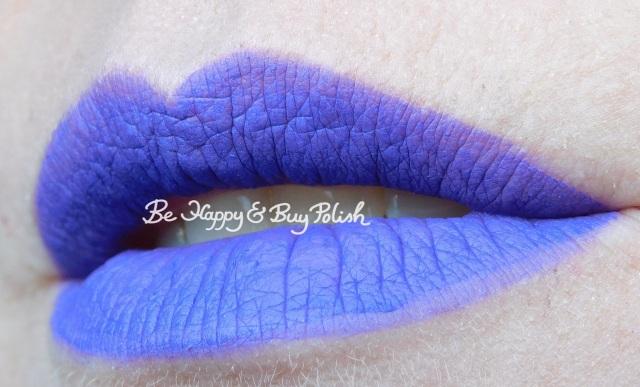 Wet N Wild Liquid Catsuit Purple Panic lip swatch | Be Happy And Buy Polish