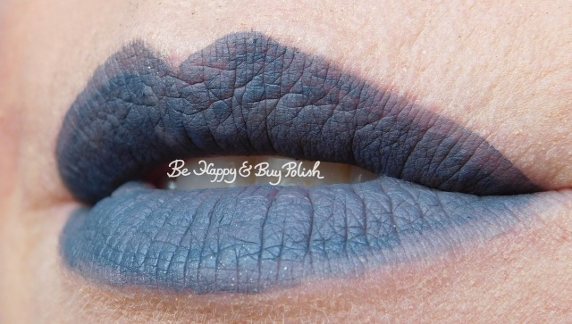 Wet N Wild Liquid Catsuit Sleepy Hallow lip swatch | Be Happy And Buy Polish