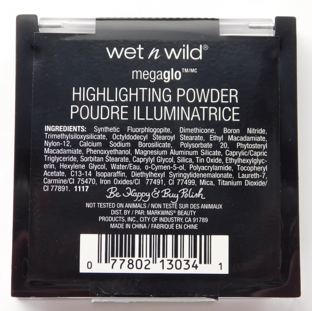 Wet N Wild Megaglo Highlighting Powder If You've Got It Haunt It! ingredients | Be Happy And Buy Polish