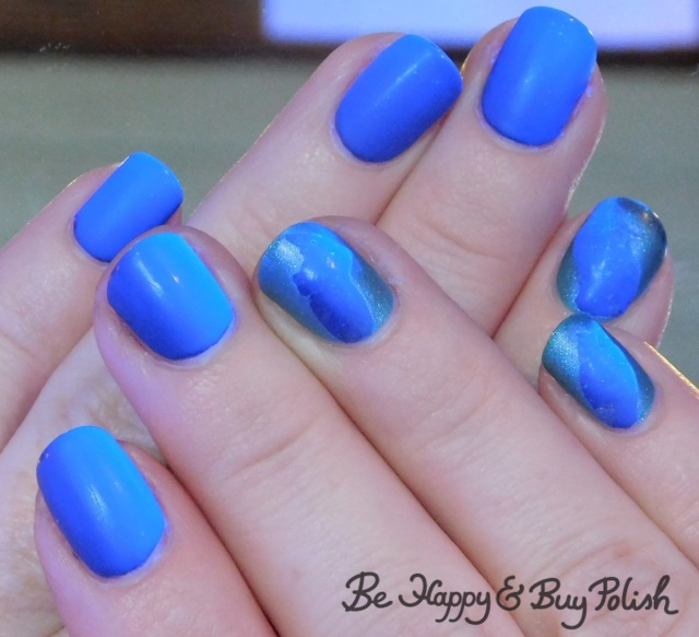 blacklight thermal veil nail manicure with KBShimmer and L.A. Colors | Be Happy And Buy Polish