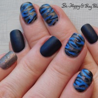Camouflage Nail Art with Polish 'M, LA Colors, and Moonflower Polish