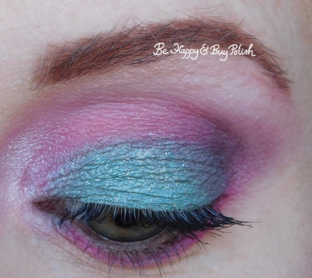eyeshadow look with Urban Decay Alice Through the Looking Glass, Coastal Scents 88 Original Palette, Glamour Doll Eyes Nice Kicks, LA Colors Smokin palette close up | Be Happy And Buy Polish