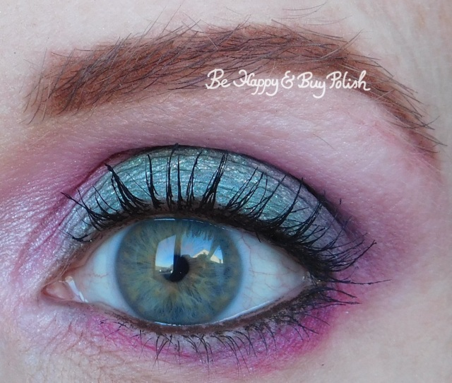 eyeshadow look with Urban Decay Alice Through the Looking Glass, Coastal Scents 88 Original Palette, Glamour Doll Eyes Nice Kicks, LA Colors Smokin palette | Be Happy And Buy Polish