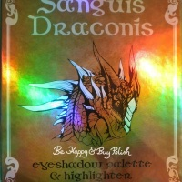 Hot Topic Sanguis Draconis eyeshadow palette and highlighter swatches, review, and makeup looks