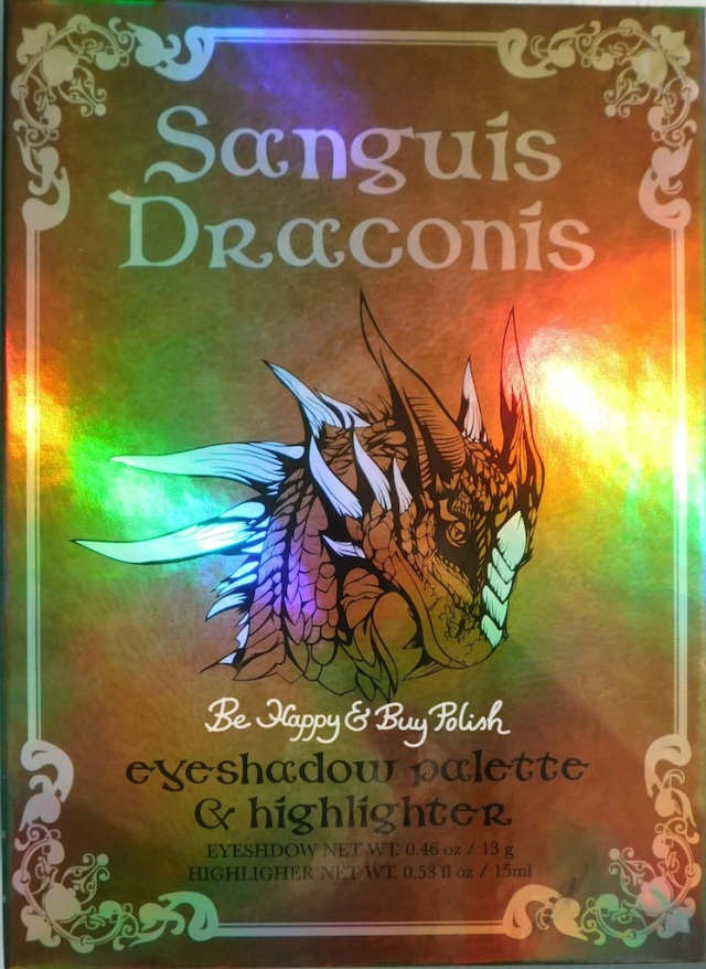 Hot Topic Sanguis Draconis eyeshadow palette and highlighter | Be Happy And Buy Polish