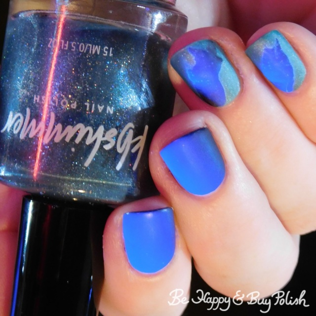 KBShimmer The One Soul, L.A. Colors X-Ray blacklight veil nail manicure | Be Happy And Buy Polish