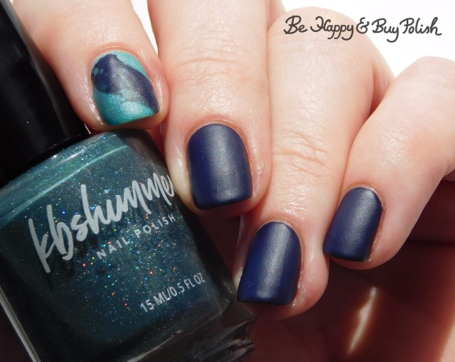 KBShimmer The One Soul warm state, L.A. Colors X-Ray thermal veil nail | Be Happy And Buy Polish