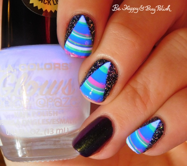 L.A. Colors Energy, Ultra Violet, Nuclear, Gleaming, Fluorescent, Radiation, China Glaze Night and Slay, P.O.P Polish Scared Slick | Be Happy And Buy Polish