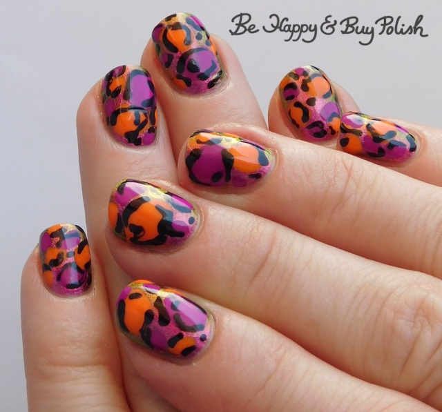 leopard print manicure with Tonic Polish and L.A. Colors | Be Happy And Buy Polish