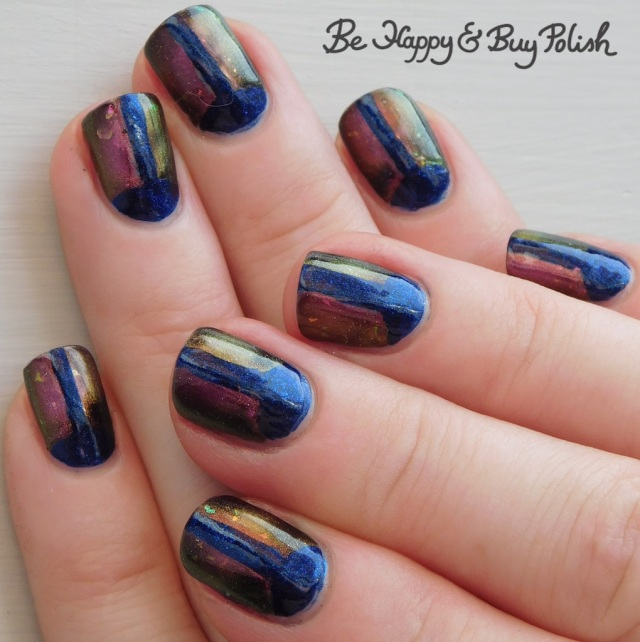 magnetic beetle manicure with Hot Topic Blackheart Beauty Divine Elements Water, KBShimmer Creep It Together | Be Happy And Buy Polish