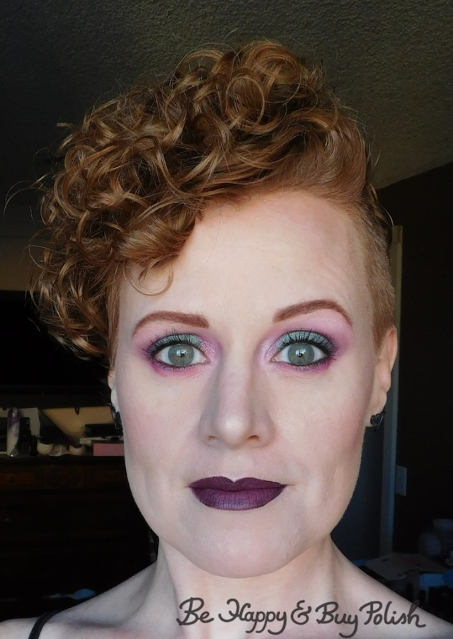 makeup look with Urban Decay Alice Through the Looking Glass, Coastal Scents 88 Original Palette, Glamour Doll Eyes Nice Kicks, LA Colors Smokin palette | Be Happy And Buy Polish