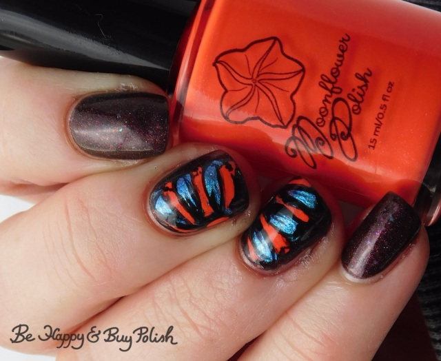 Moonflower Polish Popsicle, Necessary Evil Polish Zero Stones Zero Crates cold state, P.O.P Polish Slick and Slide, L.A. Colors Circuits thermal flower drag manicure | Be Happy And Buy Polish